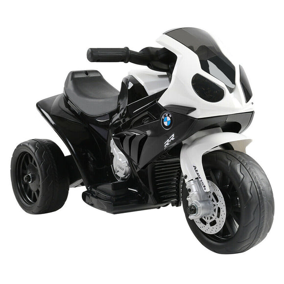 BMW S1000RR Licensed Kids Ride On Motorcycle Car | Black - Buytoys.com.au