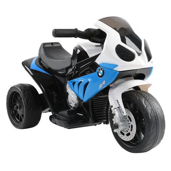 BMW S1000RR Licencsed Kids Ride On Motorcycle Car | Blue - Buytoys.com.au