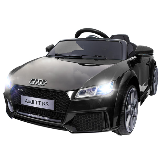 Audi TT RS Licensed Kids Ride On Car | Black - Buytoys.com.au