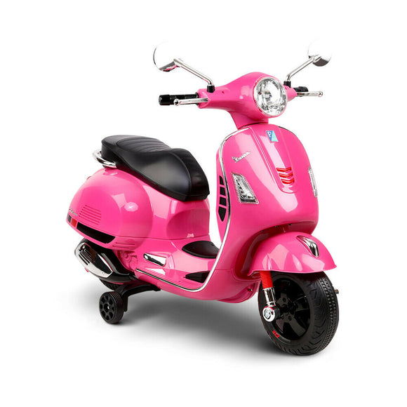 Vespa Licensed Kids Ride On Motorcycle Car | Pink - Buytoys.com.au