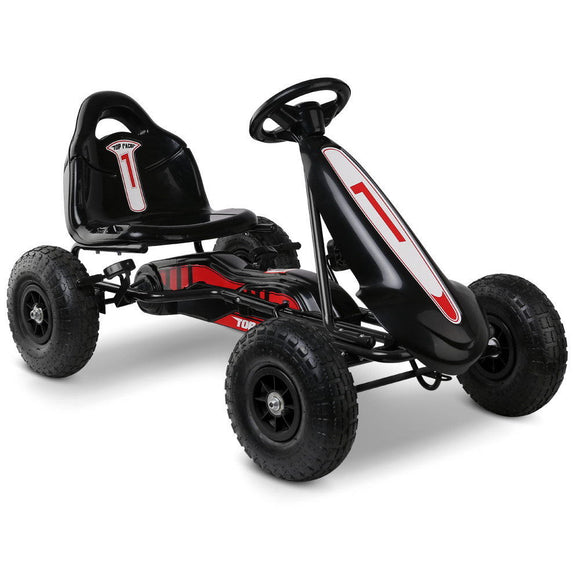 Rigo Kids Pedal Go Kart Car | Black / Red - Buytoys.com.au
