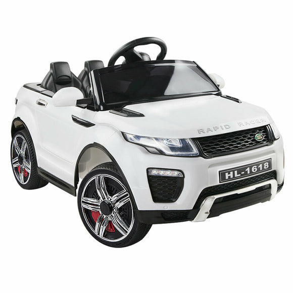 Rigo Range Rover Evoque Inspired Kids Ride On Car | White - Buytoys.com.au