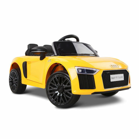 Audi R8 Licensed Kids Ride On Car | Yellow - Buytoys.com.au