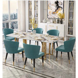 U-BEST Nordic marble table rectangular light luxury dining table designer post-modern minimalist conference table