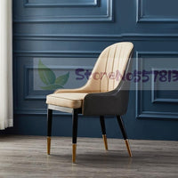 Nordic light luxury dining chair simple modern net red chair home restaurant chair nail backrest negotiating leisure chair