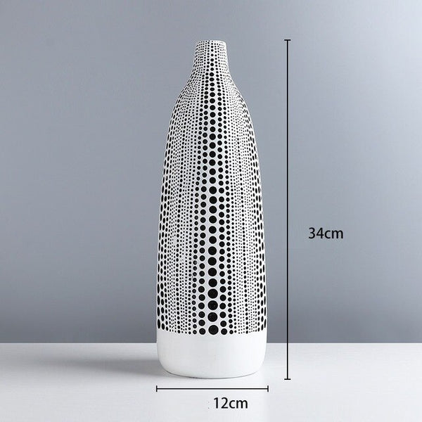 Nordic Wave Point Arts Vase Decoration Resin Vase Home Decor Flower Arrangement R4910
