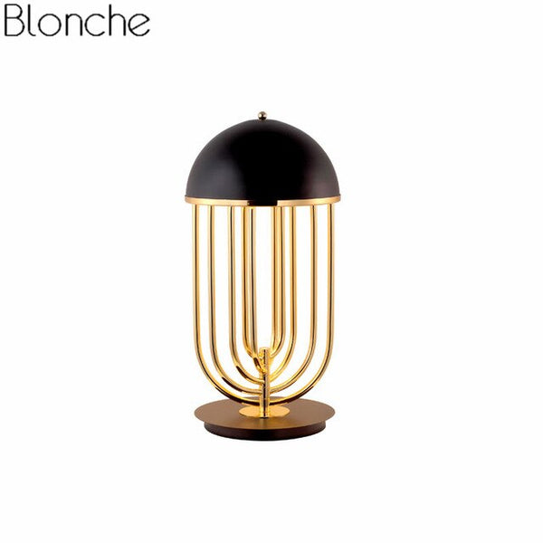 Post Modern Luxury Gold Table Lamps Delightfull Rotatable Base Led Desk Lighting Fixtures Stand Light Bedroom Bedside Home Decor