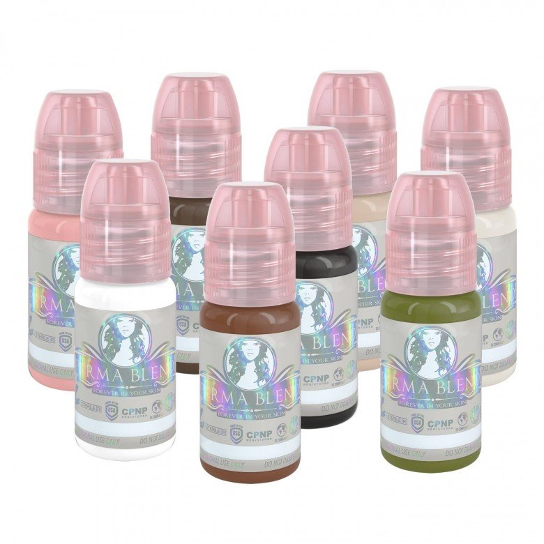 Perma Blend - Areola Kit - Complete Set of 8 x 30ml - Beauty Shop Direct