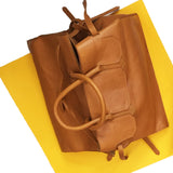 Four Sided Rectangular Bag in Camel