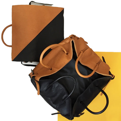 Four Sided Rectangular Bag in Duo