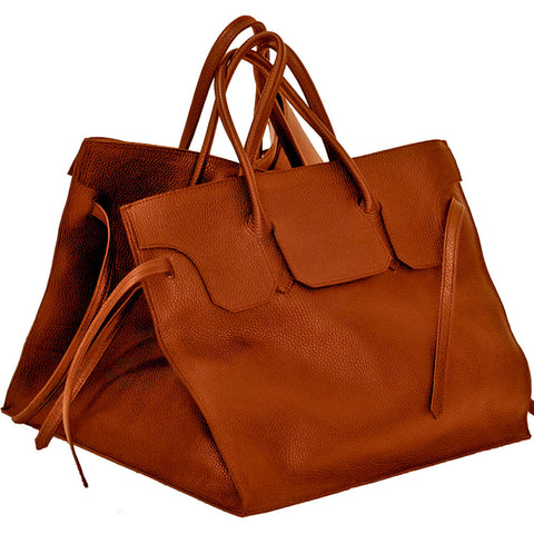 Four Sided Rectangular Bag | Cognac