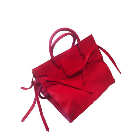 Four Sided Rectangular Bag | Red
