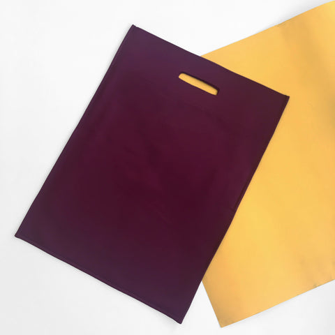 Satin Shopper in Burgundy