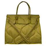 Quilted Rectangular Bag | Khaki