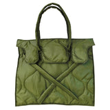 Quilted Rectangular Bag | Olive