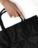 Quilted Rectangular Bag | Black