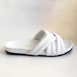 Triple Strap Slide | White