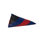 Striped Pyramid Pencil Case | Black, Blue, Red