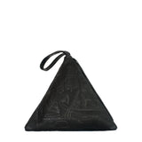 Pyramid Bag | Embossed Black
