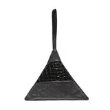 Pyramid Bag | Black and Black Embossed