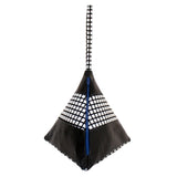 Striped Pyramid Bag | Black, Grid