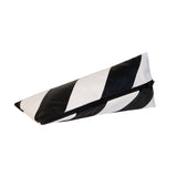 Striped Pyramid Pencil Case | Black, White