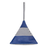 Striped Pyramid Bag | Blue, Grid