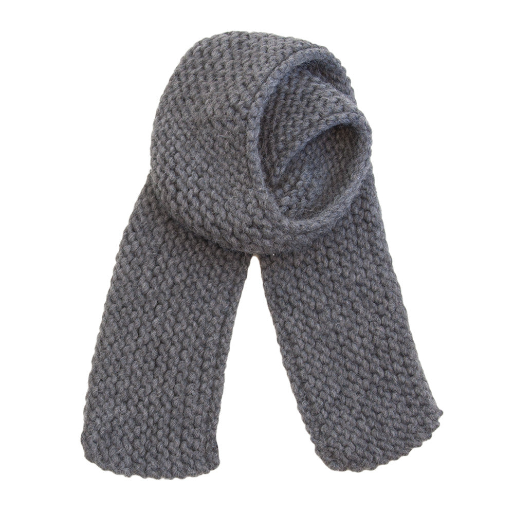 6906783559ef5 Slow and Steady Wins the Race — Horizontal Knit Scarf in Charcoal
