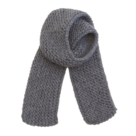Horizontal Knit Scarf in Charcoal
