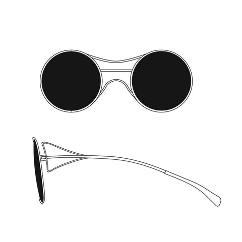 Basic Circle Wire Sunglasses