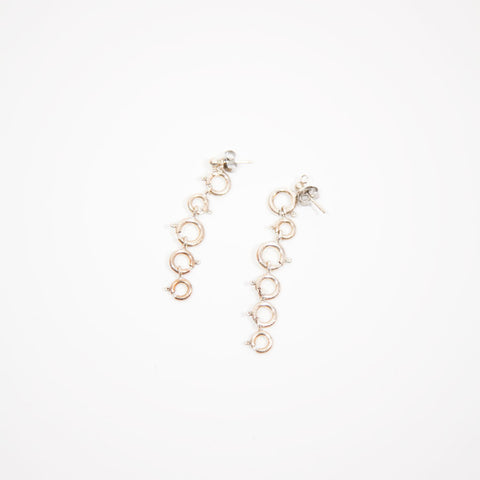 Long Sport Ring Earrings