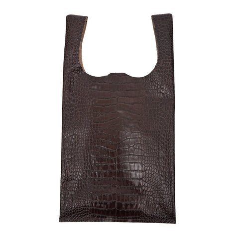 Embossed Croc Bodega Bag