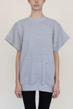 Eyeleted T | Grey