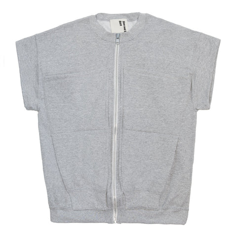 Zipper Vest in Grey Heather