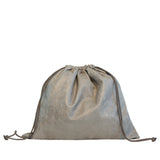Drawstring in Grey Embossed Croc
