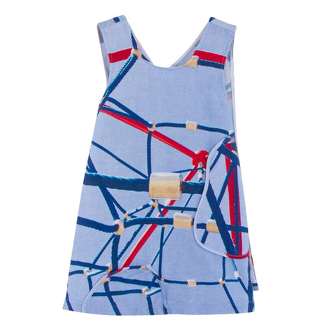 Apron Dress | Jungle Gym Print