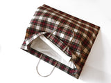 Metal Clip Handle Bag in Plaid