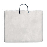 Metal Clip Handle Bag | White Shearling