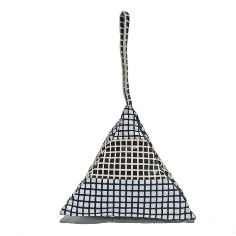 Striped Pyramid Bag | BW Grid, WB Grid