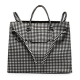 Four Sided Rectangular Bag | Grid