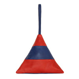 Striped Pyramid Bag | Red and Blue