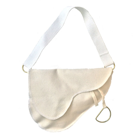 Saddle Bag with White Strap | Small