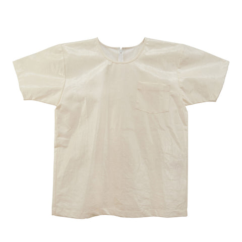 White T-Shirt | Coated Linen