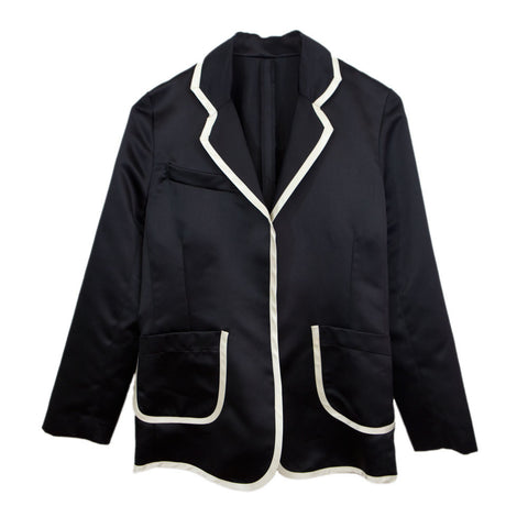 Tuxedo Jacket Notch Collar in Black