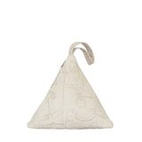 Pyramid Bag, Embossed Stone