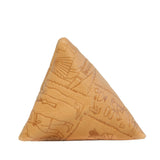 Pyramid Coin Purse in Tan Hieroglyphic