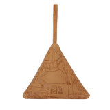 Pyramid Bag, Embossed Tan