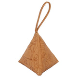 Pyramid Bag | Embossed Tan