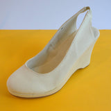 Wedge Slingback | Natural | Size 40