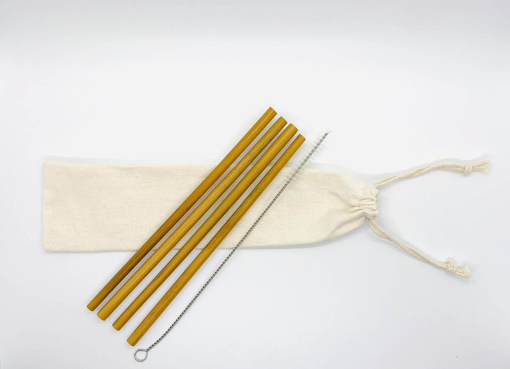Bamboo Drinking Straw Kit